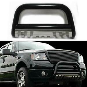 Fit 04 17 Ford F150 Black Stainless Skid Plate Front Push Bumper Bull Bar Guard