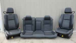 2011 2014 Dodge Challenger Oem Black Leather Seats Front Rear W Bags Srt 8 Rt