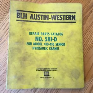 Austin Western 410 Crane Parts Manual Book Catalog Hydraulic Rough Terrain Guide