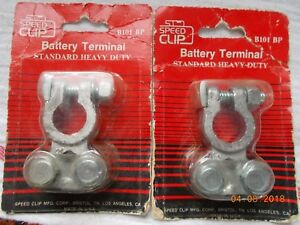 Pair Of New Speed Clip B101bp Automotive Marine Std Hd Battery Terminals