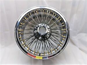 Dayton Wire Wheels Nos 17x8 Bolt Ons With Gold Nips 5 115 Bolt Circle