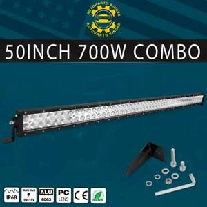 50inch 700w Led Light Bar Flood Spot Roof Driving Truck Boat Suv 4wd 52
