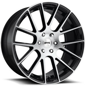 4 24 Inch Dub S206 Luxe 24x9 5 6x139 7 6x5 5 30mm Black Brushed Wheels Rims