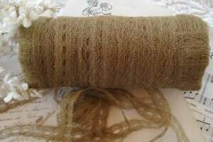 1y Antique Vtg French 5 8 Cotton Beading Net Tambour Picot Insert Lace Doll Trim