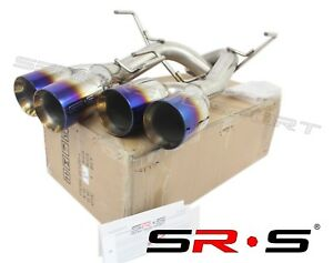 Srs Axleback Exhaust Muffler Delete Burnt 4 Tips Dw For Subaru Wrx Sti 15 19