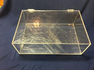 Lucite Display Cases Still Wrapped In Protective Plastic W Hinged Top Lid