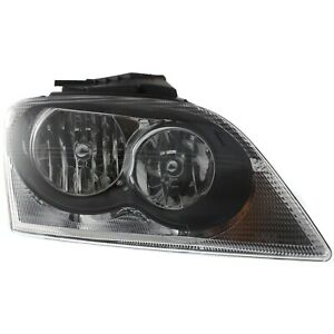 Headlight For 2005 2006 Chrysler Pacifica 6 Cylinder Right Clear Lens Halogen