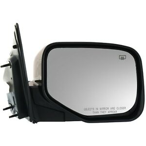 Power Mirror For 2006 2014 Honda Ridgeline Passenger Side Heated Paintable
