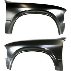 Fender For 80 83 Toyota Pickup Set Of 2 Front Driver Passenger Primed Steel