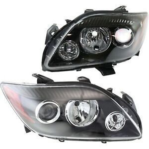 Headlight Set For 2008 2010 Scion Tc Left And Right With Seal And Socket Covers