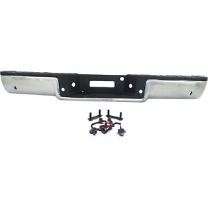 Step Bumper For 06 08 Ford F 150 Assembly Pull Bar With Sensor Holes Chrome Rear