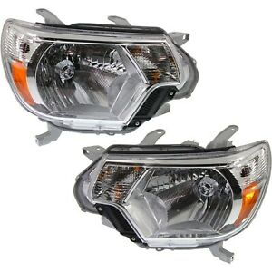 Headlight Set For 2012 2015 Toyota Tacoma Left And Right With Bulb 2pc