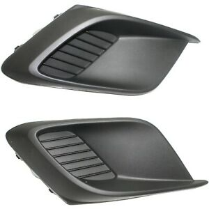 New Set Of 2 Fog Light Covers Driver Passenger Side Ma1039122 Ma1038122 Pair