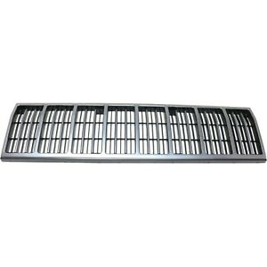 Grille For 88 90 Jeep Cherokee 88 92 Comanche Silver Shell W Black Insert