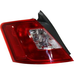 Halogen Tail Light For 2010 2012 Ford Taurus Se Sel Left Clear Red Lens Capa