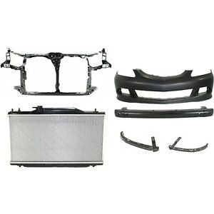 Bumper Cover Kit For 2005 2006 Acura Rsx Front 6pc