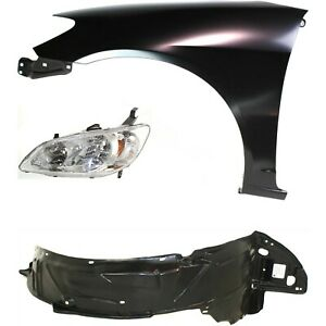 Fender Kit For 2004 2005 Honda Civic Front Left 3pc