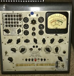 Hickok 534a Mutual Conductance Vacuum Tube Tester as Is With Manual schematic