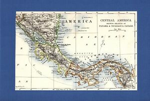 Map Central America Panama C1900