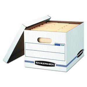 Bankers Box File Storage Boxes Lift Off Lid Pack Of 12