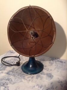 Vintage Copper Electric Bowl Fire Heater Industrial Steam Punk Lamp 2090