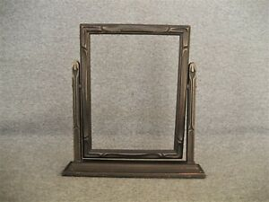Antique Vintage Wood Tilt Swivel Swing Table Top Picture Frame