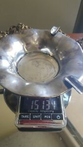 Solid 151 Grams Not Scrap Sterling Silver Gsc Mexico 925 Ashtray Petal Stands