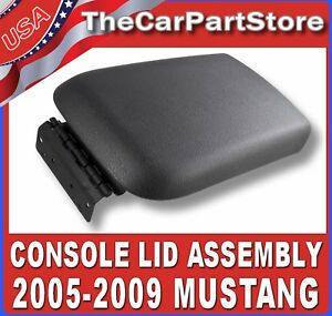 Front Center Armrest Console Lid Top Pad Cover Door Assembly For 2005 09 Mustang