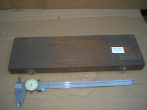 Mitutoyo 12 Inch Dial Caliper No 505 645 50 With Wood Storage Case
