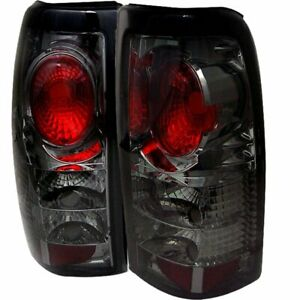 Spyder 5002099 Halogen Tail Light For 1999 2002 Chevy Silverado 1500 Smoked 2pcs