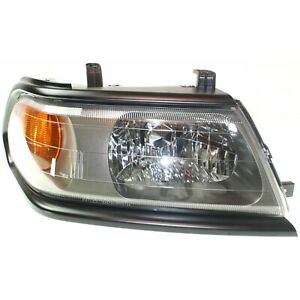 Headlight For 2000 2004 Mitsubishi Montero Sport Right Black Trim With Bulb