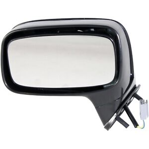 Power Mirror For 1987 1993 Ford Mustang Front Left Textured Black Door Mounted