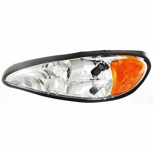 Headlight For 99 2000 2001 2005 Pontiac Grand Am Left With Bulb Capa