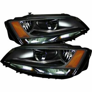 Spyder 5075796 Headlight For 2011 2013 Volkswagen Jetta Lh Rh 2 Pcs