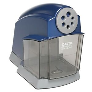 Electric Pencil Sharpener Heavy Duty Portable Office School Artist Student Blue