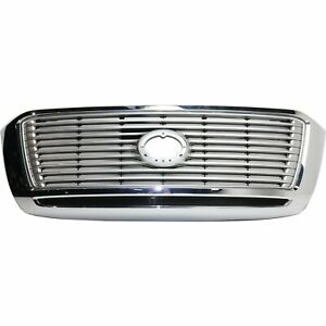 Grille For 2012 2013 Toyota Tundra Center Silver Plastic