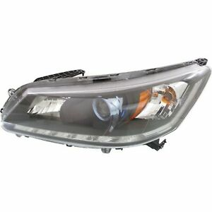 Headlight For 2014 2015 Honda Accord Sedan Left Chrome Housing With Bulb