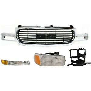 Headlight Kit For 1999 2002 Gmc Sierra 1500 2000 2006 Yukon Xl 2500 4pc
