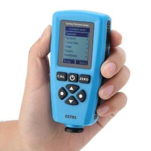 Bside Cct01 Digital Lcd Paint Coating Thickness Gauge Tester F nf Probe Ubs