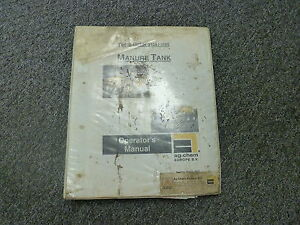 Terra Gator 3104 9105 Ag Chem Manure Tank Owner Operator Maintenance Manual