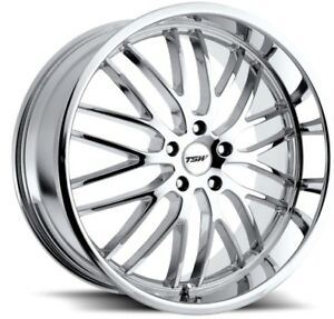 17x8 Tsw Snetterton 5x120 Rims 20 Chrome Wheels Set Of 4
