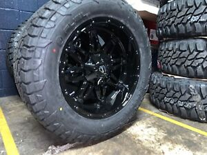 20x10 Fuel D625 Hostage 33 Wheel And Tire Package 5x5 Jeep Wrangler Tj Jk Jl