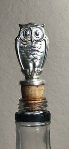 Gorham Sterling Silver Owl Bottle Cork Stopper 3 1 4 Tall