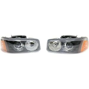 Styline Halogen Headlight For 2002 2006 Gmc Sierra 1500 W Bulb S Pair