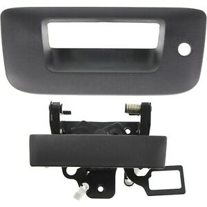 Tailgate Handle Bezel Kit With Lock Hole Textured Black For Silverado Sierra