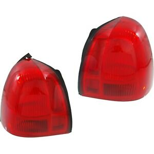 Halogen Tail Light Set For 2003 2011 Lincoln Town Car Outer Red Lens 2pcs Capa