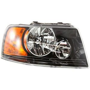 Headlight For 2003 2004 2005 2006 Ford Expedition Right Black Housing With Bulb