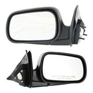 Set Of 2 Mirror Power For 1994 1997 Honda Accord Left And Right Manual Folding