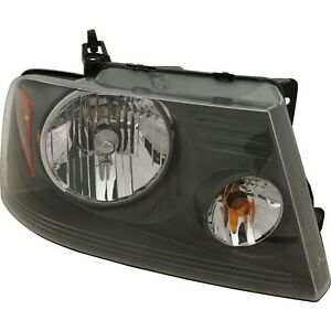 Headlight For 2007 2008 Ford F 150 Right Gray Housing With Bulb Capa