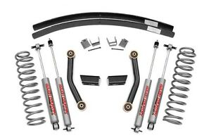 Rough Country 3 Suspension Lift Jeep Xj Cherokee 84 01 4 0l 2 5l